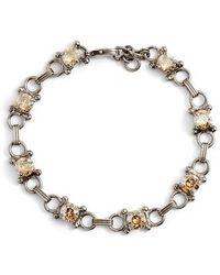 Sorrelli - Mini Eyelet Line Crystal Bracelet - Lyst