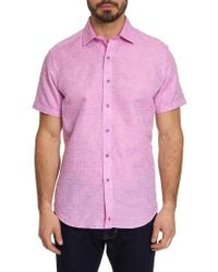 Robert Graham - Cyprus Classic Fit Linen & Cotton Sport Shirt - Lyst