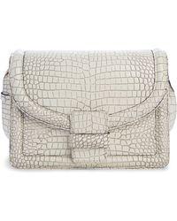 Dries Van Noten - Croc Embossed Leather Crossbody Bag - Lyst