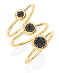 Gorjana | Astoria Drusy Set Of 3 Rings | Lyst