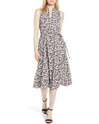 Anne Klein - Floral Drawstring Dress - Lyst