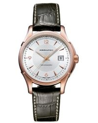 Hamilton - Jazzmaster Viewmatic Auto Leather Strap Watch - Lyst