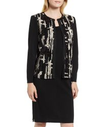 Ming Wang - Sequin Front Knit Jacket - Lyst