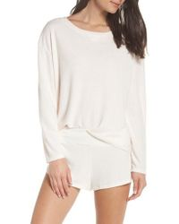 Eberjey - Mina Tranquil Long Sleeve Sleep Top - Lyst