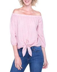 Liverpool Jeans Company - Off The Shoulder Top - Lyst