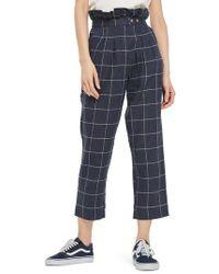TOPSHOP | Windowpane Peg Trousers | Lyst