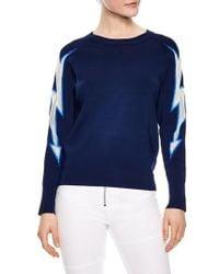 Sandro - Mesh Inset Sweater - Lyst