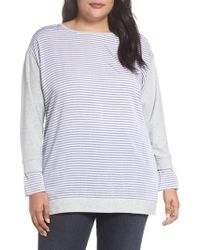 Two By Vince Camuto - Mixed Media Sweatshirt - Lyst