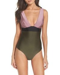 Ted Baker - Contrast One-piece Swimsuit - Lyst