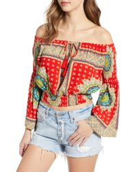 Band Of Gypsies - Perth Off The Shoulder Top - Lyst