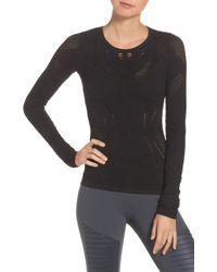 Alo Yoga - Lark Mesh Inset Long Sleeve Yoga Top - Lyst