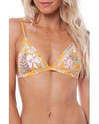 Rhythm - Aruba Bralette Bikini Top - Lyst