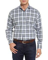 Thomas Dean | Corner Stitch Check Sport Shirt | Lyst