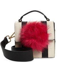 Jules Kae - Mel Faux Fur Pompom Crossbody Bag - Lyst