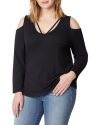 a8d782280e7475 REBEL WILSON X ANGELS - Strappy Cold Shoulder Top - Lyst