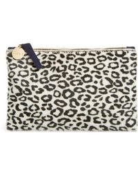 Clare V. - Ocelot Print Genuine Calf Hair Wallet Clutch - - Lyst