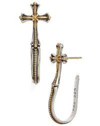 Konstantino - 'hebe' Cross J-hoop Earrings - Lyst