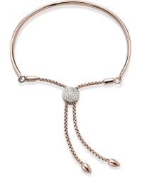 Monica Vinader - Engravable Fiji Diamond Toggle Bracelet - Lyst