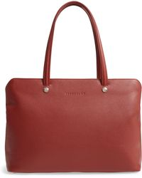 Longchamp - Le Foulonne Leather Tote - Lyst