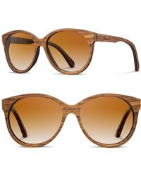 Shwood - 'madison' 54mm Round Wood Sunglasses - - Lyst
