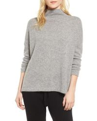 James Perse - Mock Neck Cashmere Sweater - Lyst