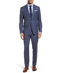 Ted Baker | Jay Trim Fit Windowpane Wool Suit | Lyst