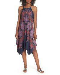Maggy London - Koshibo Print Handkerchief Hem Dress - Lyst
