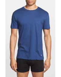 Lyst - Polo Ralph Lauren Classic Fit 3-pack Cotton T-shirt, Blue in ... 74ccb007bd6f