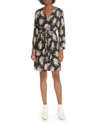 Rebecca Taylor - Bouquet Silk Dress In Black Combo - Lyst