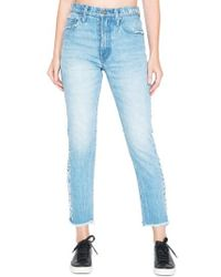PRPS | Amx Side Fray High Waist Ankle Jeans | Lyst
