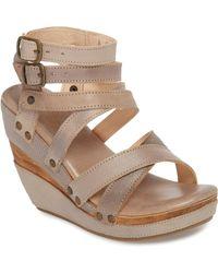 39cc1fabdac Lyst - Bed Stu Jaslyn Braided Wedge Sandals in Pink