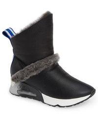 51e76344b7c8 Ash Genialbis Buckled Wedge Sneaker in Brown - Lyst