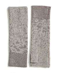 Eileen Fisher - Metallic Fingerless Gloves - Lyst