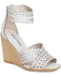 Jeffrey Campbell - Besante Perforated Wedge Sandal - Lyst