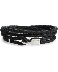Miansai - Braided Leather Bracelet - Lyst