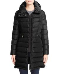 Moncler - 'Flammette' Long Hooded Down Coat - Lyst