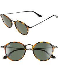 Ray-Ban - 49mm Retro Sunglasses - Spotted Black Havana/ Green - Lyst