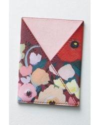 Anthropologie - Picturesque Florals Passport Holder - Burgundy - Lyst