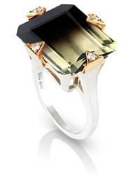 Maniamania - Cocktail Ring With Diamonds - Lyst