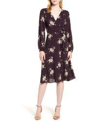 Velvet By Graham & Spencer - Floral Wrap Dress - Lyst