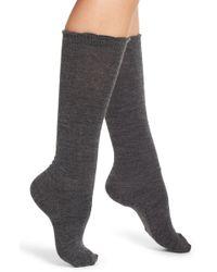 Nordstrom - Flat Knit Merino Blend High Socks - Lyst