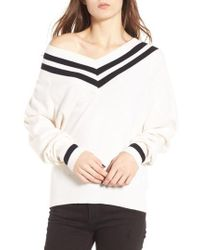 Kendall + Kylie - Stripe Sweater - Lyst