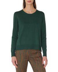 Akris Punto - Poplin Back Cotton Sweater - Lyst