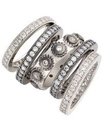 Freida Rothman - 'contemporary Deco' Stacking Rings (set Of 5) - Lyst