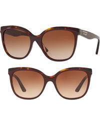 8079ce7d0e Lyst - Burberry 53mm Gradient Cat Eye Sunglasses - in Brown