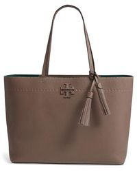 Tory Burch - Mcgraw Leather Laptop Tote - Lyst