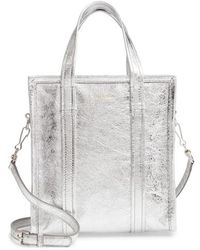 cb49b875e5db Balenciaga - Extra Small Bazar Metallic Lambskin Leather Shopper - - Lyst