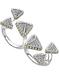 Lagos - Ksl Lux Diamond Two-finger Ring - Lyst
