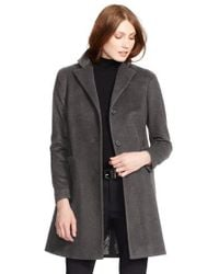 Lauren by Ralph Lauren - Wool Blend Reefer Coat - Lyst