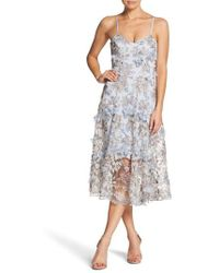 Dress the Population - Uma Floral Embroidered Lace Dress - Lyst